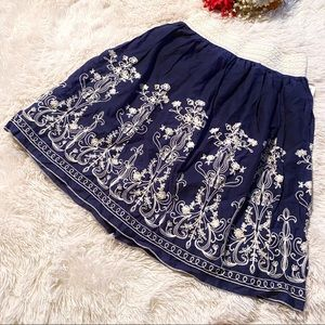 🎈3 for $30🎈NWT Metro Wear Boho Embroidered Skirt